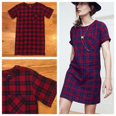 Madewell Edina Plaid Dress Classic Madewell Edina plaid shirt dress. Perfect to throw on with some sneakers or loafers and go! Size XXS. In excellent condition, worn once. Feel free to ask any questions below or make me an offer! Madewell Dresses Mini