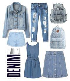 """Radical Denim: Jeans, Jackets, Dresses, and More!"" by campbellfauber ❤ liked on Polyvore featuring Topshop, Alima, Chicnova Fashion, Billabong and Oasis"
