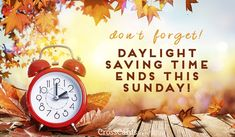 Daylight Savings Ends ecard, online card Daylight Saving Time Ends, Daylight Savings Time, Fall Back Time Change, Time Changes Quotes, Clocks Back, Spring Ahead, Online Greeting Cards, Water Crafts, Fall Halloween
