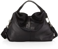 Furla Elisabeth Largo Hobo Bag, Onyx on shopstyle.com