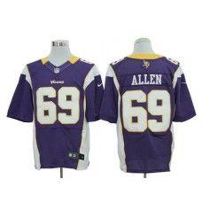 Nike Jared Allen Jersey Elite Team Color Purple Minnesota Vikings  69  Minnesota Vikings Football 2b482e09d