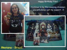 #HappyBDayHizakiandYuki por Mariana - Brazil