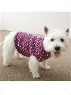 Beaded Dog Sweater / crochet Pattern
