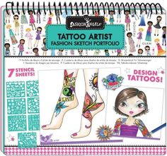 """Tattoo Artist Sketch Portfolio by Fashion Angels. $5.50. Wonderful collection of craft activities for hours of fun and creativity.. Design Henna tattoos and more!. It comes with 40 tattoo artist design sketch pages, 7 plastic stencil sheets (100+ stencils) and easy """"how to"""" instructions!. Swap designs with your friends!. This sketch pad lets you design the trendiest new tattoos!. From the Manufacturer                This sketch pad lets you design the trendiest new tattoos..."""
