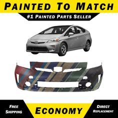 6f013e7cc54 NEW Painted To Match - Front Bumper Cover for 2012-2015 Toyota Prius  5211947934