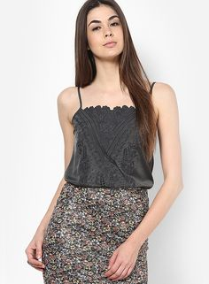 Buy Miss Selfridge Khaki Strappy Top Online - 3202812 - Jabong Best Online Fashion Stores, Lakme Fashion Week, Miss Selfridge, Boho Shorts, Sequin Skirt, Camisole Top, Tank Tops, How To Wear, Clothes