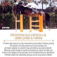 Also Blai Capdevila Sport Horses rides with #Pariani!! Top sport!  Selleria Pariani #selle #saddles #horses #cavalli