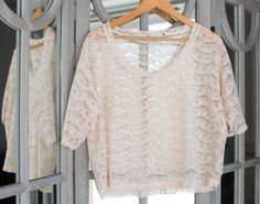 Sheer Vintage look top - to fit size 16 and under