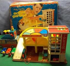 Vintage Fisher Price Little People Garage 930 100 w Boxes Pics Within 229 | eBay