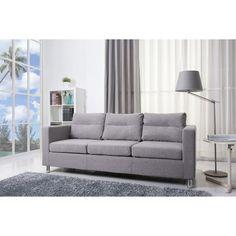 Detroit Ash Fabric Sofa | Overstock.com Shopping - Great Deals on Sofas & Loveseats