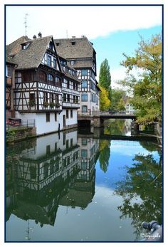 Bridge over calm waters - Strasbourg, Alsace, France