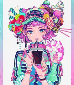 original, original bookmarks / B L E N D / December 2018 - pixiv Kawaii Anime Girl, Anime Art Girl, Manga Art, Arte Do Kawaii, Kawaii Art, Pretty Art, Cute Art, Japon Illustration, Aesthetic Anime