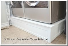 How to build a washer/dryer stand