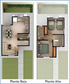 In general, modern house is designed to be energy and environmental friendly. It also means being efficient in utilizing materials and air conditioning. The design often uses sustainable and recycled Modern House Plans, Small House Plans, House Floor Plans, The Plan, How To Plan, Small House Design, Modern House Design, Small Villa, Narrow House