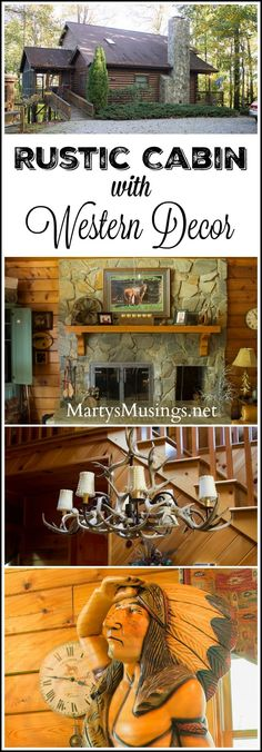 Rustic Cabin with Western Theme Decor is part of Western Rustic decor - Tour this rustic cabin with western theme decor, a visual delight with beautiful pine wood throughout and one of a kind furnishings and accessories Rustic Western Decor, Western Theme, Rustic Theme, Décor Antique, Christmas Accessories, Home And Deco, Cool Diy Projects, Minimalist Decor, Inspired Homes