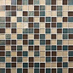 """Oceanside Glasstile...Collection Name: Muse...Color Name: Paloma...Components: Cane Irid, ...Components: �Tahoe Irid, ...Components: ��Truffle Matte...Item Description: 7/8 x 7/8 Field...Square Feet Per Sheet: 1.02...Sheet Size: 12 1/8"""" x 12 1/8""""...Thickness: .25""""...Sample Item Number: 77825"""