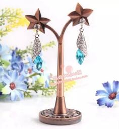 Zinc Alloy Star Tree Shape Earring Display Stand Holder Jewerly Display Organizer