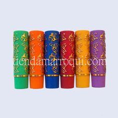 Pintalabios mágico Marruecos pack de 6 colores: verde, rojo, naranja, azul, amarillo y morado.