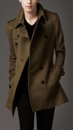 Burberry London men's wool trench coat