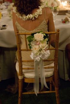 Chair decor  for bride