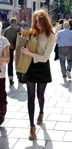 Love her style! Well... except for the fact she wears TONS of mini skirts. Put some tights on please.