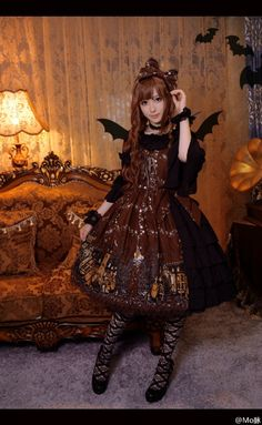 BTSSB Merry Making in the Ghost Town Lolita Halloween Gyaru Fashion, Lolita Fashion, Asian Fashion, Kawaii Dress, Gothic Lolita Dress, Japanese Street Fashion, Pretty Outfits, Harajuku, Style Me