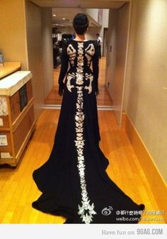 I LOVE this concept of a skeleton gown!