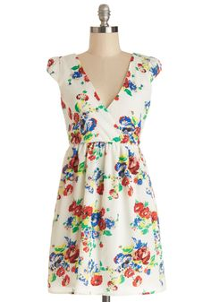 Set the Scenery Dress. We can already picture just how pretty youll look among the gardens blooms in this whimsical white dress!  #modcloth