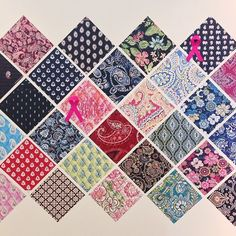 Strolling down memory lane and right past our pattern wall.