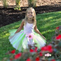 Spring & Easter TutuLight Pink Green by TutuGorgeousGirl on Etsy, $31.00