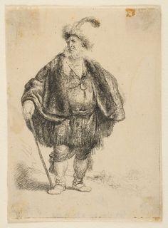 Перс (1632) (110 х 79 мм) (офорт). Rembrandt Harmensz van Rijn (1606-1669)