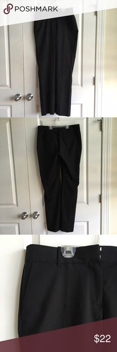 J.Crew sleek black work pants! These work pants are fantastic staple for a business casual wardrobe! They are in like-new condition, 100% wool, no flaws and size 8. No trades. J. Crew Pants Trousers