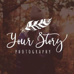 FEATHER PHOTOGRAPHY LOGO AND WATERMARK, PHOTOGRAPHER LOGO, PHOTOGRAPHY LOGO, RUSTIC LOGO WATERMARK, WATERMARK LOGO, PREMADE PHOTOGRAPHY LOGO