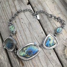 Sterling Silver Labradorite Necklace By Wild Prairie Silver Jewelry #SilverJewelry