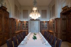 Amazing Location for a meeting: Library / Bibliothek @ Schloss Hotel Wilhelminenberg Vienna Location Finder, Vienna, Austria, Places Ive Been, Hotels, Dining Table, Amazing, Furniture, Home Decor
