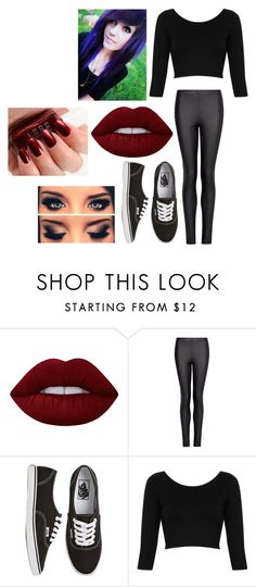 """""""Random"""" by hey-mate on Polyvore featuring Lime Crime, MANGO, Vans and Topshop"""