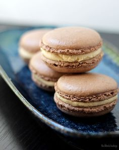 Chocolate Macarons with Peanut Butter Buttercream | The Blonde Buckeye