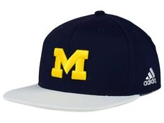 Michigan Wolverines adidas NCAA Flat Brim Snapback Cap Hats  - Puff embroidery - college sports