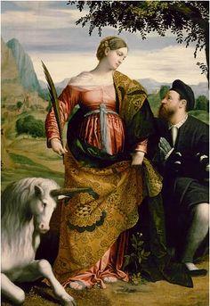 Alessandro Bonvicino (Moretto da Brescia) - St. Justina, 1530-34, Kunsthistorisches Museum, Wien.
