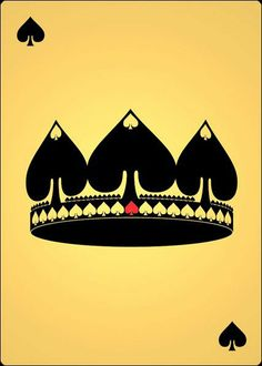 by Cocaine King of Spades King Tattoos, Crown Tattoos, Ace Of Spades Tattoo, Spade Tattoo, King Of Spades, Playing Cards Art, Card Tattoo, Sister Tattoos, Monogram Design