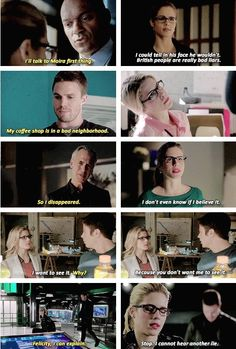 Felicity Smoak + knowing if somebody is lying #Arrow #Olicity