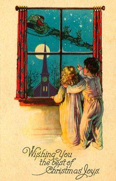 Sweet 1930s Christmas Postcard