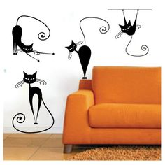 Meow Kitty Cats | WNL Wall Decals | s03