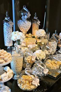 Tavolo della confettata per matrimonio