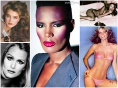 Ford Models: Images clockwise Brook Shields, Grace Jones, Naomi Campbell, Cheryl Tiegs, Lauren Hutton