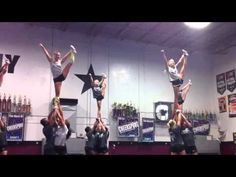 Brandon Allstars Senior Black toe touch stunt - holy moly I want to try this now...