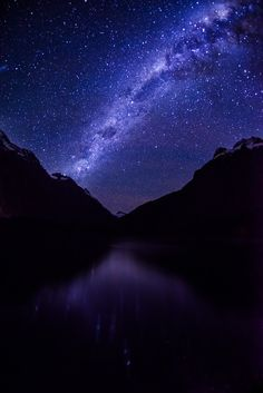 My friend Cliff and I stayed out late one night in Milford Sound to see the Milky Way. We were not disappointed! Sometimes it gets pretty cloudy over here, and there was just one night, so we were hoping that karma paid off, and it did! - Milford Sound, New Zealand - Photo from #treyratcliff Trey Ratcliff at http://www.StuckInCustoms.com