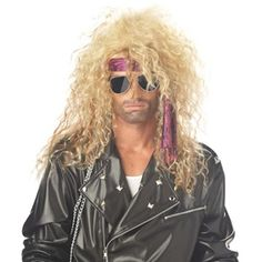 Heavy Metal Rocker Blonde Adult Wig - Costume Accessories