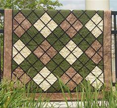 Quilt Patterns For Men | Classic Argyle