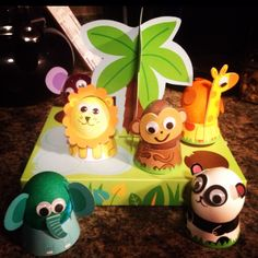 Easter dyed eggs Animal Jungle style!